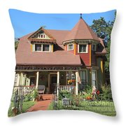 The Benefield House Jefferson Texas Throw Pillow