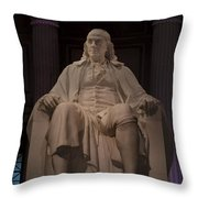 The Benjamin Franklin Statue Throw Pillow