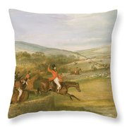 The Berkeley Hunt, Full Cry, 1842 Throw Pillow