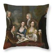 The Bermuda Group, Dean Berkeley And His Entourage, 1728 Throw Pillow