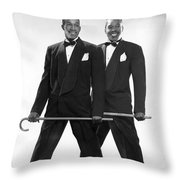 The Berry Brothers Dance Team Throw Pillow