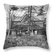 The Best Laid Plans Bw Throw Pillow