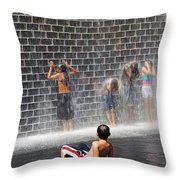 The Best Little Water Park In Chicago Throw Pillow