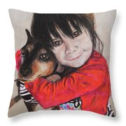 The Best Of Friends Throw Pillow