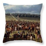 The Betting Post, Print Made By Charles Throw Pillow
