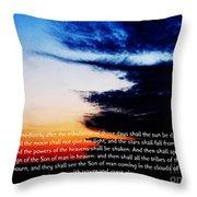The Bible Matthew 24 Throw Pillow