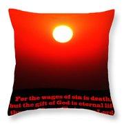 The Bible Romans 6 Throw Pillow