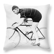 The Bicyclist - 1914 Throw Pillow