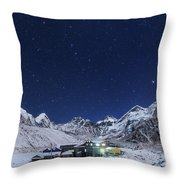 The Big Dipper Rise Above The Himalayas Throw Pillow
