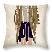 The Big Lebowski Inspired The Dude Typography Artwork Throw Pillow by Ayse Deniz
