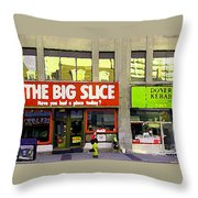 The Big Slice Pizzeria Downtown Toronto Restaurants Doner Kebob House Street Scene Painting Cspandau Throw Pillow