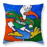 The Big U Throw Pillow