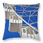 The Big Wheel Throw Pillow