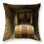 The Biltmore Estate Wine Barrels Throw Pillow