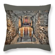 The Biltmore Estate Wine Barrels Throw Pillow