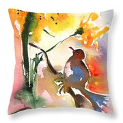The Bird And The Flower 01 Throw Pillow