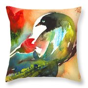 The Bird And The Flower 03 Throw Pillow