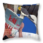 The Bird Brain Throw Pillow