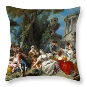 The Bird Catchers Throw Pillow