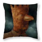 The Bird King Throw Pillow