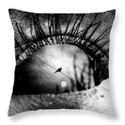 The Bird On The Wire  Throw Pillow