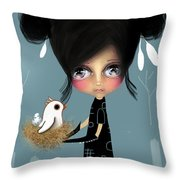 The Bird Whisperer Throw Pillow by Karin Taylor
