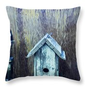 The Birdhouse Throw Pillow