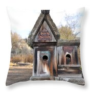 The Birdhouse Kingdom - Cedar Waxing Throw Pillow