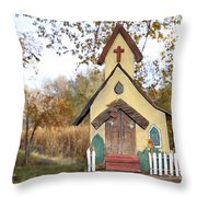 The Birdhouse Kingdom - Lazuli Bunting Throw Pillow