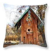 The Birdhouse Kingdom - Spotted Towhee Throw Pillow