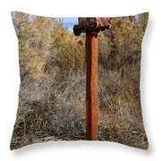 The Birdhouse Kingdom - The Black Bird Throw Pillow