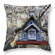 The Birdhouse Kingdom - The Cordilleran Flycatcher Throw Pillow