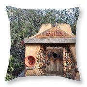 The Birdhouse Kingdom - The Evening Grosbeak Throw Pillow
