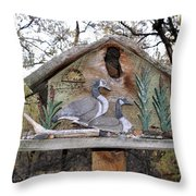 The Birdhouse Kingdom - The Geese A Swimming Throw Pillow