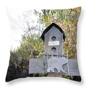 The Birdhouse Kingdom - The Loggerhead Shrike Throw Pillow