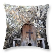 The Birdhouse Kingdom - The Olive-sided Flycatcher Throw Pillow