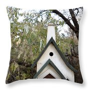 The Birdhouse Kingdom - The Pileated Woodpecker Throw Pillow