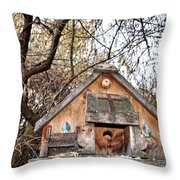 The Birdhouse Kingdom - The Purple Martin Throw Pillow