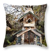 The Birdhouse Kingdom - The Red Crossbill Throw Pillow