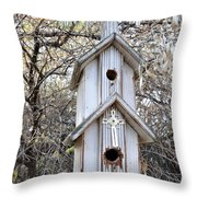 The Birdhouse Kingdom - The Western Wood-pewkk Throw Pillow