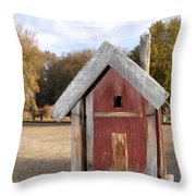 The Birdhouse Kingdom - Western Bluebird Throw Pillow