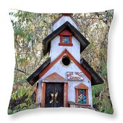 The Birdhouse Kingdom -the Pygmy Nuthatch Throw Pillow