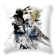 The Birdman Throw Pillow
