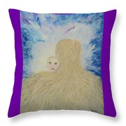 The Birth Of New Universal Love Named Tao  Throw Pillow by Judy M Watts-Rohanna