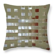 The Birth Of Squares No 1 Throw Pillow by Ben and Raisa Gertsberg