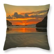 The Black Boot Throw Pillow