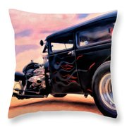 The Black Ghost Throw Pillow