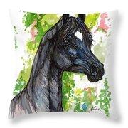 The Black Horse 1 Throw Pillow