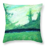 The Black Lake Throw Pillow