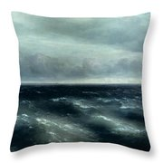 The Black Sea Throw Pillow